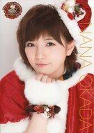 【中古】生写真(AKB48・SKE48)/アイドル/AKB48 岡田奈々/バストアップ・クリスマス衣装・A4サイズ/AKB48 CAFE & SHOP限定 A4サイズ生写真ポスター 第118弾