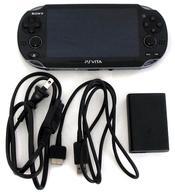 【中古】PSVITAハード(箱説無し) PlayStation Vita本体<<3G / Wi-Fiモデル>>(クリスタル・ブラック)[初回限定版][PCH-1100 AA01](箱・説明書無し) (箱説なし)