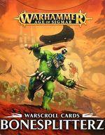 【中古】ミニチュアゲーム ウォースクロールカード ボーンスプリッター 英語版 「ウォーハンマー エイジ・オヴ・シグマー」 (Warscroll Cards: Beastclaw Raiders) [89-05-60]【タイムセール】