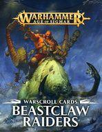 【中古】ミニチュアゲーム ウォースクロールカード ビーストクロー レイダー 英語版 「ウォーハンマー エイジ・オヴ・シグマー」 (Warscroll Cards: Beastclaw Raiders) [86-04-60]【タイムセール】