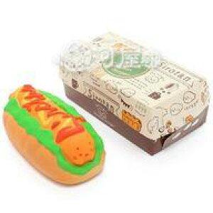 【エントリーでポイント10倍!(9月26日01:59まで!)】【新品】スクイーズ(食品系/おもちゃ) しろたん 柔らかホットドッグ マザーガーデン