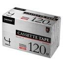 【新品】家電サプライ HI DISC オーディオカセットテープ 120分 4PACK [HDAT120N4P]