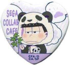 【中古】バッジ・ピンズ(キャラクター) 一松(着ぐるみ) 「セガコラボカフェ おそ松さん×しろくまカフェ ハート型缶バッジB」