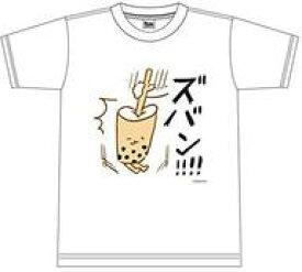 """【エントリーでポイント10倍!(9月26日01:59まで!)】【中古】Tシャツ(キャラクター) """"ズバン!!!!"""" Tシャツ ホワイト Lサイズ 「おしゅしだよ」"""