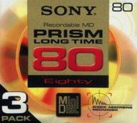【中古】MDディスク ソニー 録音用ミニディスク PRISM 80分 3枚パック [3MDW-80JH]