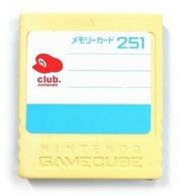 【中古】NGCハード クラブニンテンドー オリジナルデザインメモリーカード251(状態:本体のみ、本体状態難)