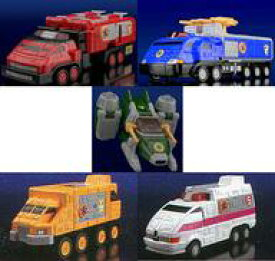 【中古】食玩 プラモデル 全5種セット 「スーパーミニプラ 緊急合体 ビクトリーロボ 救急戦隊ゴーゴーファイブ」