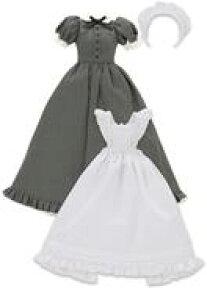 【新品】ドールアクセサリー 1/6 PNS用 クラシカルロングメイド服(半袖)セット(グレー)