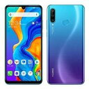 【中古】携帯電話 スマートフォン HUAWEI P30 LITE MAR-LX2J 4GB/64GB (Y!mobile/ピーコックブルー) [HWSEC1]