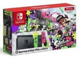 【中古】ニンテンドースイッチハード Nintendo Switch本体 スプラトゥーン2セット(状態:ソフト・ステッカー・セーフティガイド欠品、箱(※内箱含む)状態難)