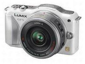 【中古】カメラ デジタル一眼カメラ LUMIX 1210万画素 (レンズキット/ホワイト) [DMC-GF5X-W]