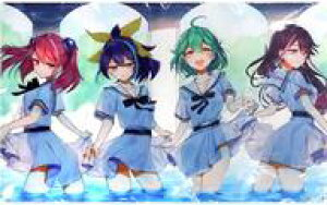 【新品】サプライ 【遊戯王】プレイマット 白セーラー柚子(にじゅ) C97/ミッドナイトブルー