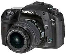 【中古】カメラ PENTAX デジタル一眼レフカメラ PENTAX K10D レンズキット 1020万画素 [19108] (状態:レンズリアキャップ欠品/本体・箱状態難※内箱含む)