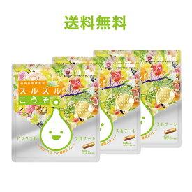 酵素 サプリ スルスルこうそ【メール便・送料無料】ケース付スルスルこうそ3点セット ダイエット こうそ 美容 乳酸菌 サプリメント ダイエットサプリ 日本製