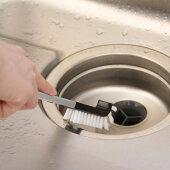 排水口ブラシKBB03キッチンブラシ排水口洗いロングタイプケース付きモノトーンシンプルAlubruaisenアイセン