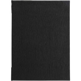メニューブック(ブラック)【EMS-E】[シンビ メニューブック A4 4ページ クリップ ピンタイプ 旧ELV-E]