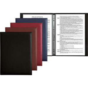 メニューブック(スリムバインダー仕様)(A4 4穴 8ページ)【スリムB-PRD-101】(10枚20ページまで)[シンビ メニューブック バインダータイプ 再生合皮]