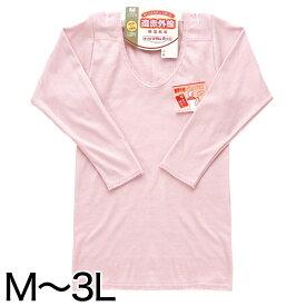 部分保温遠赤肌着 8分袖スリーマ 肩部分にセラミック (M〜3L)ON【婦人肌着】