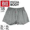 B.V.D ポチャボディ トランクス (前あき) 3L〜6L (メンズ パンツ ゆったり ぽっちゃり 大きいサイズ インナー 下着 肌…