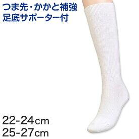スクールソックス 靴下 白 ハイソックス 22-24cm・25-27cm (無地 通学 ソックス 中学生 女子 レディース) (子供靴下)【取寄せ】