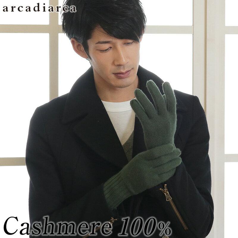 カシミヤ100% メンズ 手袋 フリーサイズ (バレンタイン アルカディアルカ カシミア100% 男性 紳士 手ぶくろ グローブ カシミア 防寒 ファッション プレゼント 贈り物 ギフト 防寒グッズ 寒さ対策)【在庫限り】
