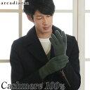 カシミヤ100% メンズ 手袋 フリーサイズ (バレンタイン アルカディアルカ カシミア100% 男性 紳士 手ぶくろ グローブ …
