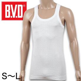 BVD メンズ タンクトップ 綿100% S〜L (コットン ランニング シャツ インナー 下着 男性 紳士 白 ホワイト S M L)