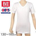 B.V.D.BOYS 洗濯に強い V首半袖Tシャツ 130〜160cm (BVD ボーイズ 男の子 男児 キッズ インナー ジュニア 子供 肌着 …