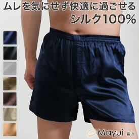 トランクス シルク メンズ 前開き M〜3L (下着 インナー シルク100% 絹 サテン 男性 パンツ 大きいサイズ 3l 敏感肌)
