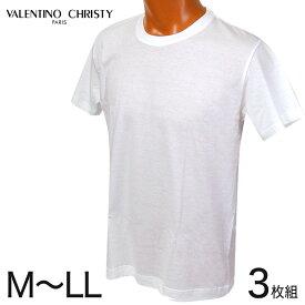 綿100% 半袖 インナー 丸首 3枚組 M〜LL (インナーシャツ tシャツ メンズ 下着 肌着 白 無地 半袖シャツ クルーネック)