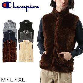 Champion フリースベスト M〜XL (メンズ レディース ベスト ふわふわ もこもこ) (送料無料)【在庫限り】