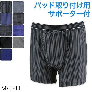 尿漏れ ボクサーパンツ 前あき M〜LL (尿漏れパンツ 男性用 メンズ 軽失禁 尿もれ)