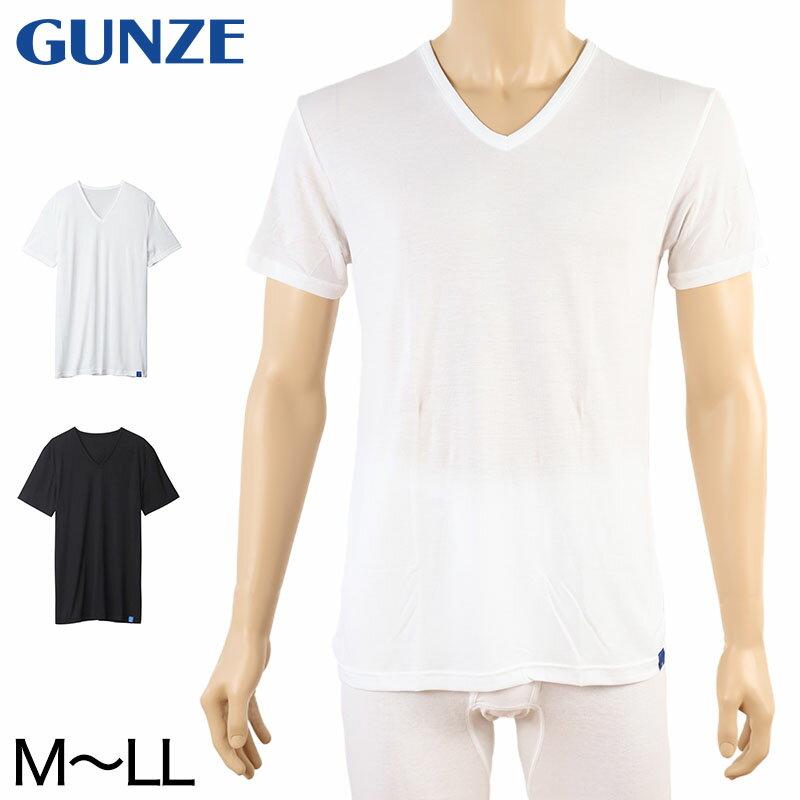 グンゼ COOLMAGIC 冷感 VネックTシャツ M〜LL (GUNZE COOLMAGIC メンズ 天竺インナー 吸汗速乾 消臭 Vネック 肌着 夏向け 部屋干し ひんやり)