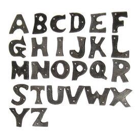 アルファベット アイアン 英字 鉄 表札 ネームプレート サインボード アルファベットオーナメントS(A〜M)
