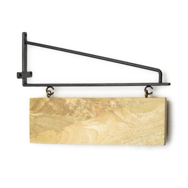 ウッドボードネームプレート 表札 サインボード アイアン ウッド 鉄 木製 文字 プレート 玄関 エントランス ショップ