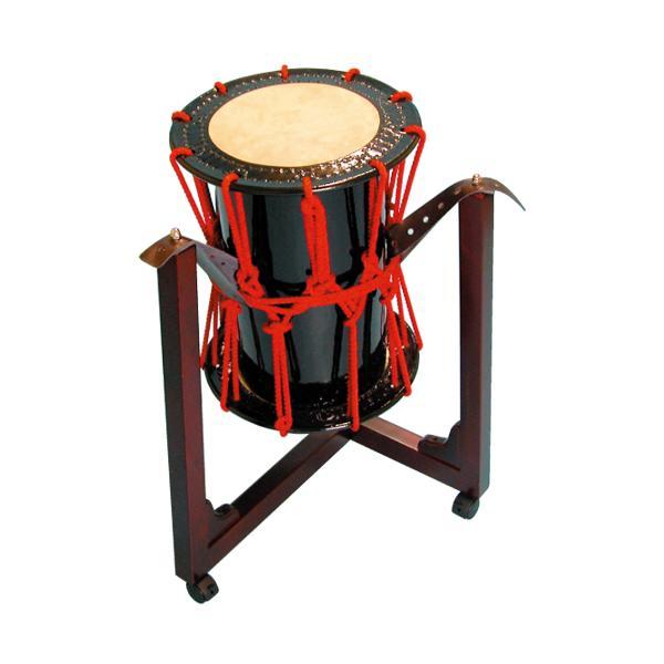 桶胴太鼓1.2尺(赤紐)三柱台座セット