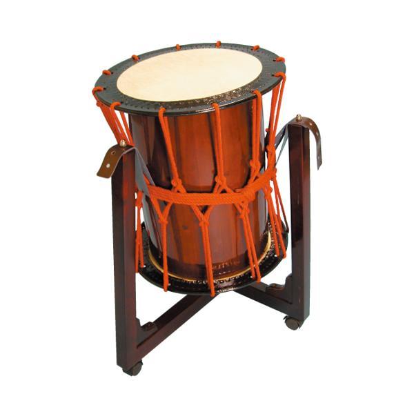 桶胴太鼓1.6尺(赤紐・茶色胴)三柱台座セット