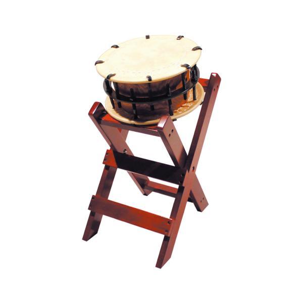 締太鼓30cm(ボルト締め・あわせ胴) 子ども用立台座セット