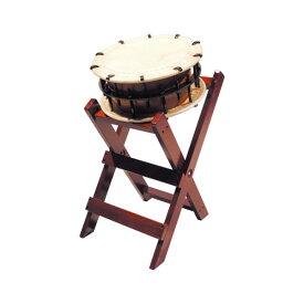 締太鼓35cm(ボルト締め・あわせ胴) 子ども用立台座セット