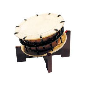 締太鼓35cm(ボルト締め・くりぬき胴) 木製座り台座セット