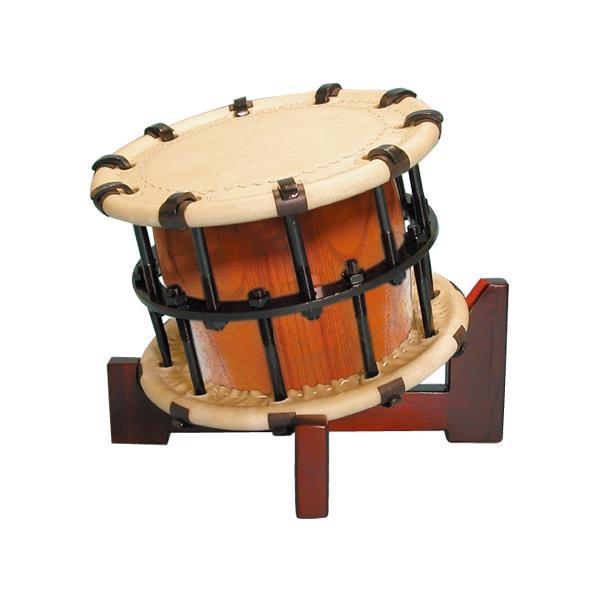 締太鼓4丁掛(ボルト締め・あわせ胴) 木製座り台座セット