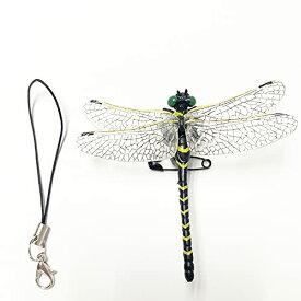 【安全ピン付き】オニヤンマ トンボ おにやんま 蜻蛉 安全ピン付き とんぼ 昆虫 動物 虫除け 模型 家 おもちゃ リアル PVC インテリ