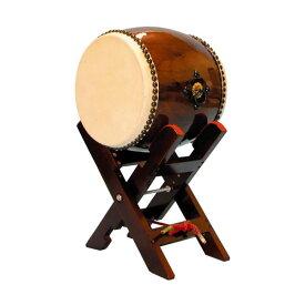 【和太鼓】長胴太鼓1.0尺(耳無し) エックス台座付き