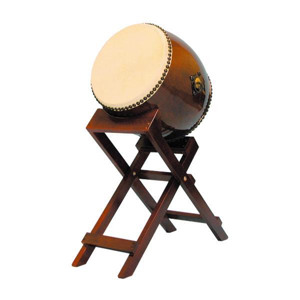 【和太鼓】長胴太鼓1.2尺(耳無し) 斜め台座付き 送料無料