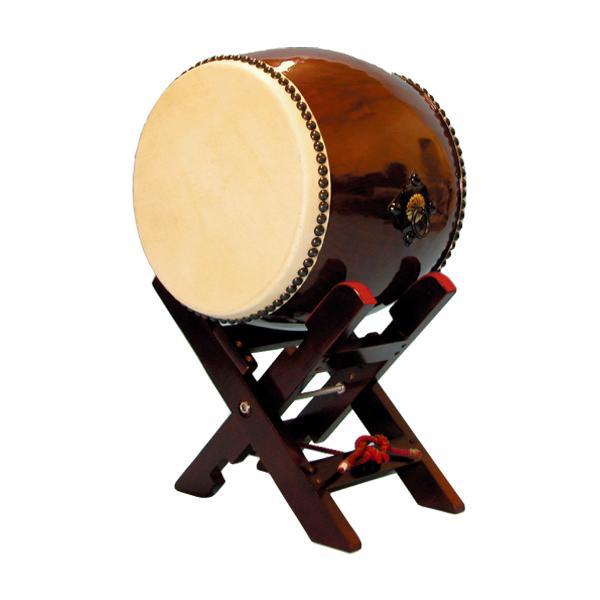 【和太鼓】長胴太鼓1.2尺(耳無し) エックス台座付き 送料無料