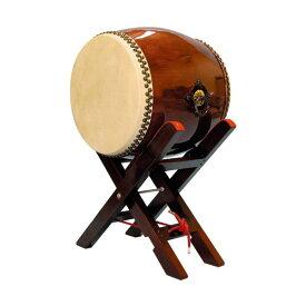 【和太鼓】長胴太鼓1.4尺(耳無し) エックス台座付き