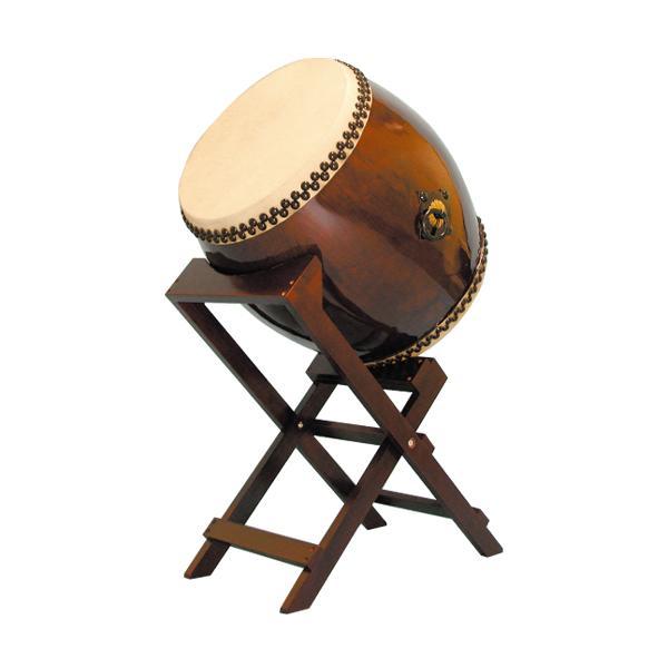 【和太鼓】長胴太鼓1.5尺(耳無し) 斜め台座付き 送料無料