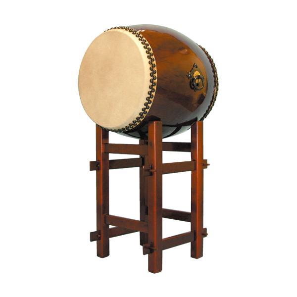 【和太鼓】長胴太鼓1.5尺(耳無し) 高台座付き 送料無料