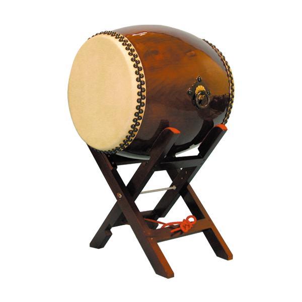 【和太鼓】長胴太鼓1.5尺(耳無し) エックス台座付き 送料無料