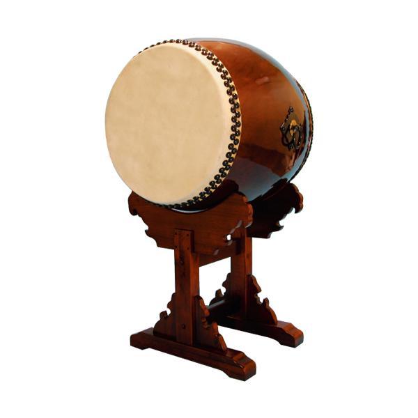 【和太鼓】長胴太鼓2.0尺(耳無し) 宮台座付き 送料無料